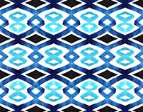 Geometric Watercolor Pattern