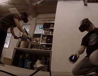 Collaborative VR experiment with two HTC Vives