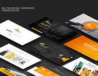 ActivBiz Minimal Corporate Business Powerpoint Template