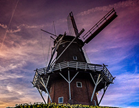 Windmill Sunset in Dokkum