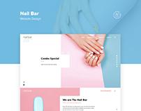 Nail Bar Website Design