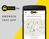 WheelJoy - Mobile Taxi App Android Concept Design