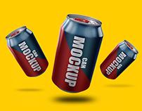 30+ Soda Can (330ml) Mockup Templates for Presentation