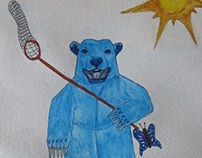 Blue bear and the butterfly