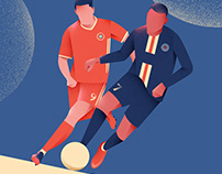 Sports Illustration Poster