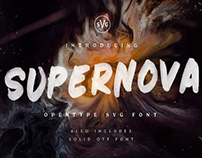 SUPERNOVA - HAND PAINTED FONT