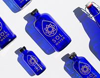 Sol Water Logo, Identity & Packaging