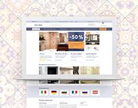 Isko-trade. Design for ceramic tiles e-commerce site