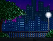Cenário de Pixel Art