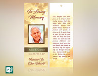 Forever Memorial Bookmark Publisher Template