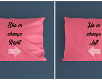 Pillows for Couple.