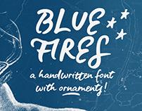 FREE Blue Fires Handwritten Font