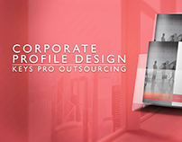 Corporate Profile Design for Keys Pro Outsourcing