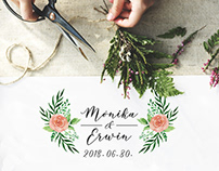 Monika & Erwin wedding watercolour wedding stationery