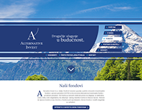Web page for investment fund