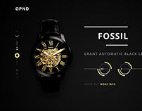 FOSSIL Landing Page Design