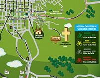 Mapa Ilustrado - Roteiros Ciclísticos SCS/RS