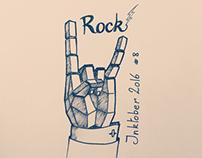 Inktober 2016 day 8 - Rock