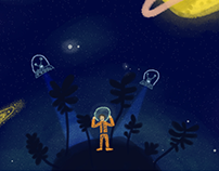 La luna y su estrella
