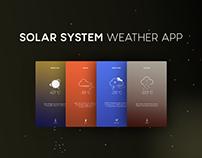 Solar System Weather App | UI Concept