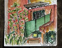 Urban sketch: view point of my favourite tabern