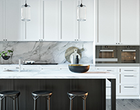 BLACK & WHITE KITCHEN | 3d model
