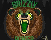 Grizzly Power | Digital Illustration