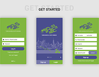 YOURGREENRIDE mobile application & social media banner