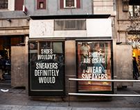 """CONVERSE Street Marketing """"Wear sneakers"""""""