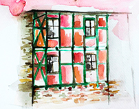 Architecture in watercolor