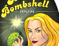 Blonde Bombshell Tap Handle Sticker