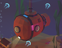 Low Poly 3d Submarine