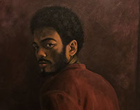 Rayson 28 x 36 in acrylic on canvas