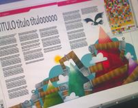 Ilustración vectores para revista