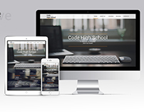 Code High School. Join our team! Landing page.