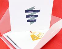 Thank You Cards for AmEx Reward Blue
