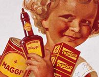 Maggi - Vintage Stackable Tin Box Set & POS Display