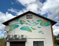 """mural """"Clouds-Seashells """"."""