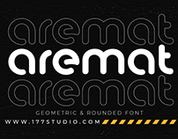 Free Font - Aremat – Geometric & Rounded