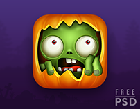 FREE PSD HALLOWEEN APP ICON