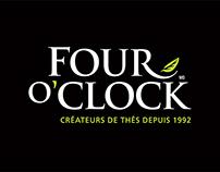 Thés Four O'Clock - identité, emballage