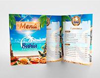 Diseño de Menú para Restaurant y Pescadería Bahia