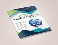 timexperts.com.pk Brochure Design