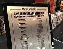 Warhammer Chatswood Anniversary Plaque