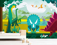 dinosaur time :: kids wall mural