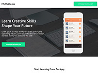Landing page Design for mobile app inspired from tuts+