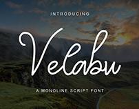 Velabu Font - A Monoline Script Font
