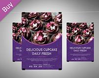 Cupcakes Bakery Menu Flyer