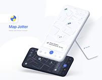 Map Jotter — Mobile App Design Concept