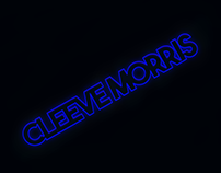 Cleeve Morris - Blue neon logo (2017)